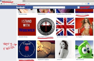 Sheriden Hawkes - B&H Strong admin - racist 'likes'