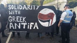 Antifascists move to intercept them