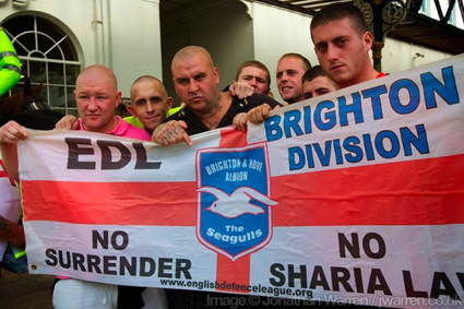 EDL in Brighton on a March for England a few years ago.